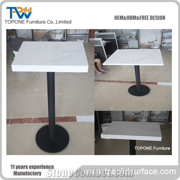 White Small Artificial Marble Stone Table Tops For Restaurant - Restaurant marble table tops