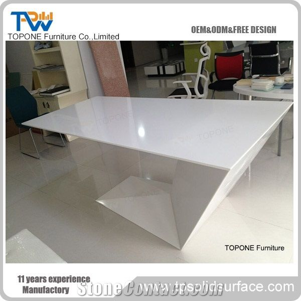 Z Shape Factory Direct Corian Acrylic Solid Surface Office ...