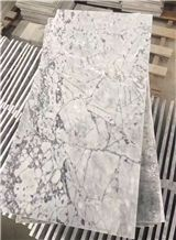 Prague Gray Polished Marble Tiles, New Grey Marble, for Extering and Interior Decoration, Floor and Wall Covering