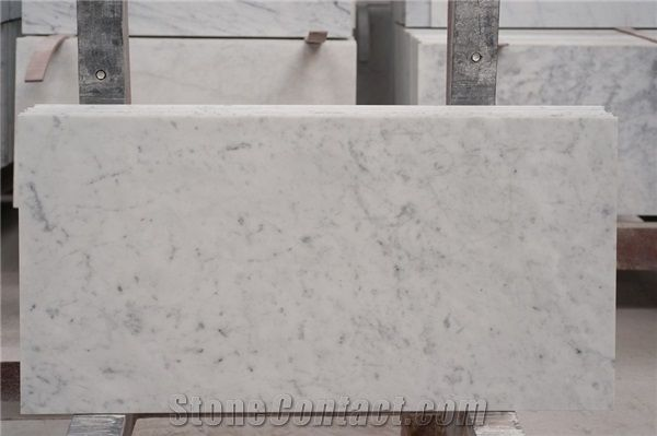 Bianco Carrara Floor And Wall Marble Tile White Marble Floor And