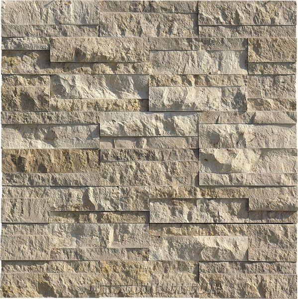 Jura Beige Limestone Split Face Ledge Stone Coral Stone