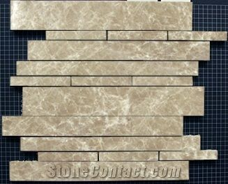 10 Bullet Dark Emperador Crema Marfil Botticino Kitchen Bathroom Mosaic Tiles