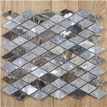 Marron Dark New Design Mosaic, Spanish Emperador Dark Square Mosaic Tile,Emperador Dark Mosaic,Chinese Dark Emperador,Emperador Dark Mosaic,Dark Marble Mosaic,Chinese Marron