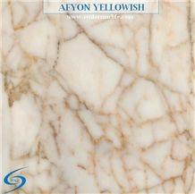 Afyon Yellowish Slabs & Tiles, Turkey White Marble, Turkish Marble, Polished Marble, Yellow, Yellow Veins, Afyon Marble