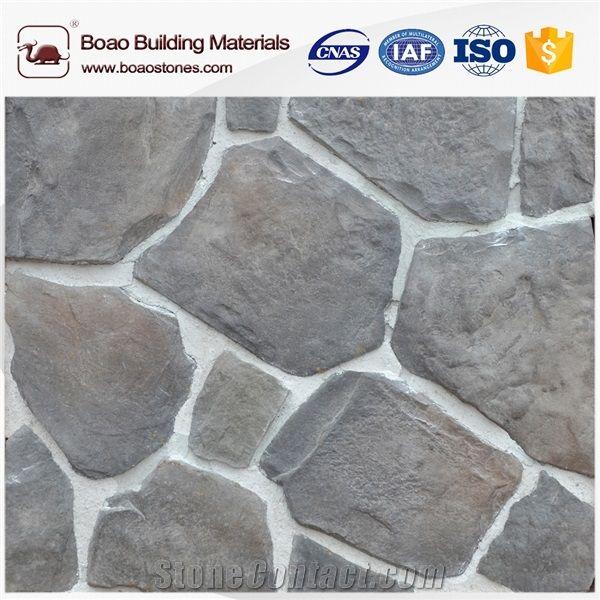 Faux brick stacked ledge stone interior wall cladding from - Faux stacked stone interior walls ...