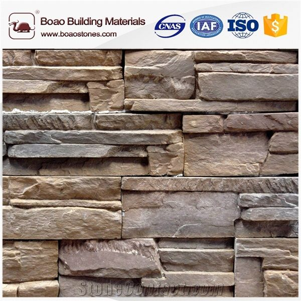 Interior Faux Stacked Rock Stone Wall Siding Panels