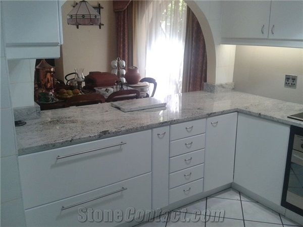 Kashmir White Granite Kitchen Counter Top From South Africa