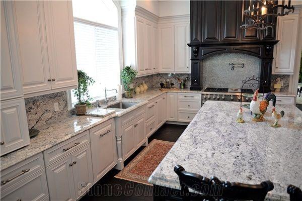 absolute white andino white granite kitchen countertop - White Granite Kitchen