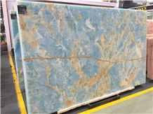 Antofagasta Azul Onyx,Blue Onxy Slabs and Tiles Polished, Wall Cladding ,A Grade and High Polished Degree, Own Factory, Natural Stone for Hotel Use, Floor Tile, Wall Tile