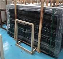 Silver Dragon Black Marble,China Stone,White & Black Vein Marble,Tile and Slab,Wall Cladding,A Grade Natural Stone,Own Factory and Quarry Owner with Ce Certificate,Big Gang Saw Slab in Large Stock