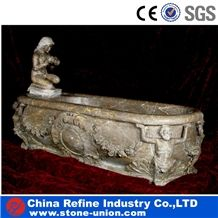 Hand Carved Marble Antique Bathtub,Bathroom Bathtubs Surround, Grey Marble Bathtubs, Stone Bathtub Statue, Bathroom Decorated Bathtub, Customized Bathtub