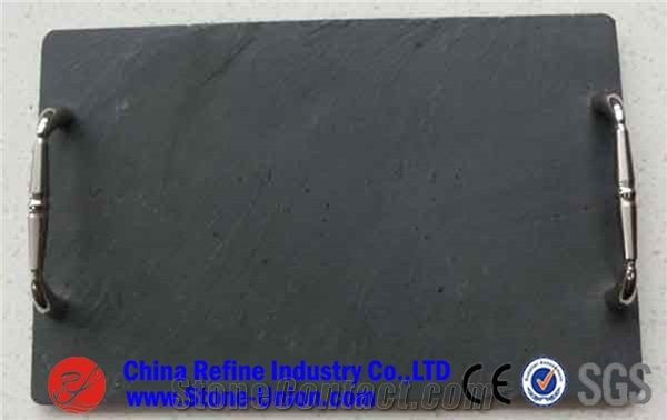 Square Deisgn Cutting Board Black Slate Platecheap Black Slate