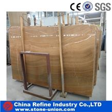 Yellow Wooden Marble Slabs & Tiles, Marble Floor/Wall Covering Tiles