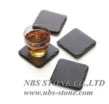 Kitchen Utensils,Modern Bar Restaurant Dinner Black Slate Stone Plate,Tea Trays,Handle,China Slate