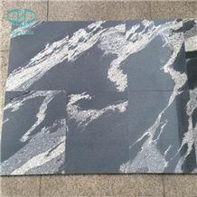 Black Color Granite with White Veins, Kashmir Black, Fantasy Black Granite, Nero Fantasy Granite Slabs & Tiles, Interior Decoration Granite, China Black Granite, Big Slabs