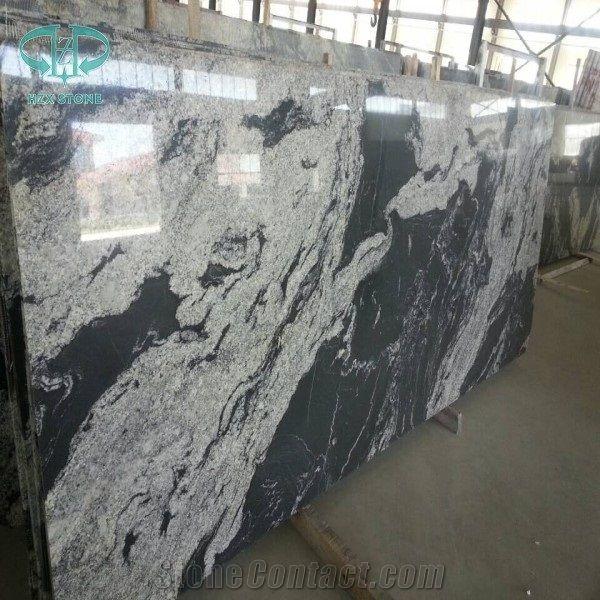Black Granite With White Veins China New Nero Branco Royal Ballet Snow Grey River Mist Via Lactea Jet
