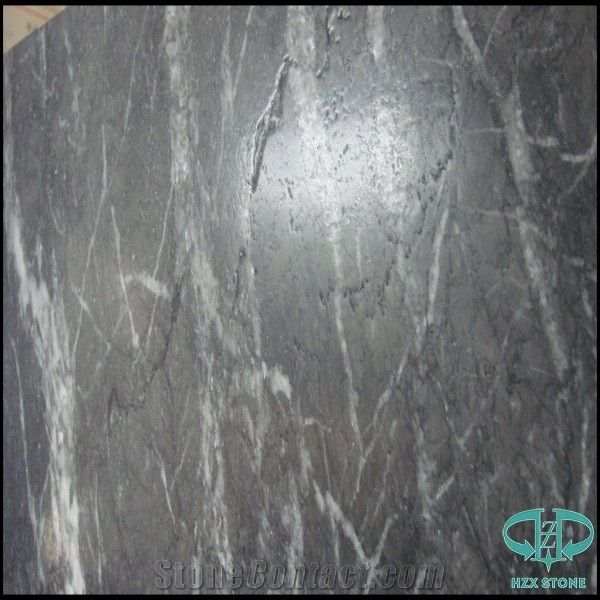 Italian Ash Marble Black Antique Surface Slabs And Tiles Flooring