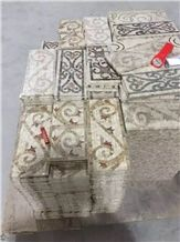 Crema Marfil Mosaic Border for Interior Decor