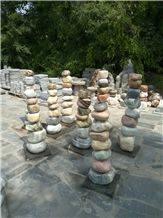 Garden Stone Pebble Fountains