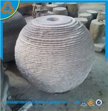 Hot Selling Grey Granite Garden Stone Fountain