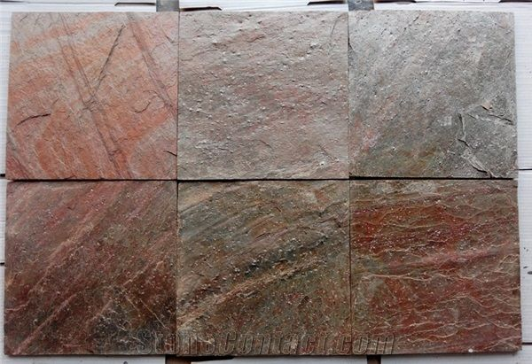 Indian Copper Quartzite Stone Slate Tiles