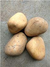 Natural Yellow Decorative River Stone Pebbles