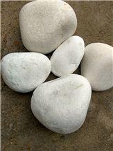 White Marble Pebbles, Indian White Marble Pebble Stones