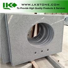 Grey Quartz Stone Bath Tops, Quartz Stone Countertops, Artificial Stone Solid Surface,Artificial Stone Bathroom Tops, Gray Arficial Stone Vanity Tops, Gray Quartz Stone Vanity Tops
