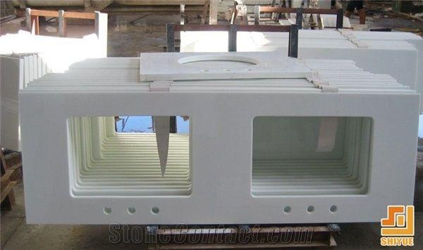 China artificial marble stone nano marble stone kitchen - Engineered stone bathroom countertops ...