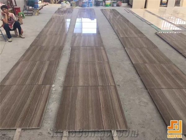China Natural Stone Coffee Wood Vein Marble Polished Marble Marble