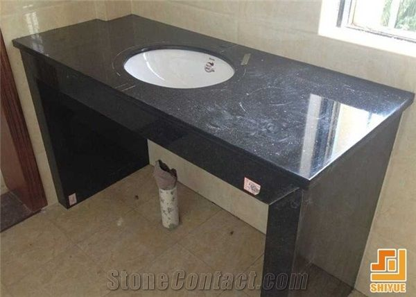 China Price Black Galaxy Bath Top Black Galaxy Custom Vanity Tops