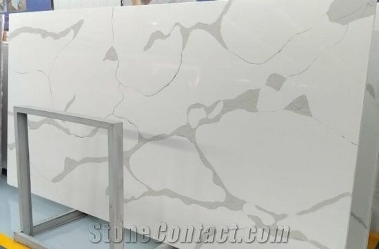 Polished China Artificial Stone Manufacturer Marble Look Clacatta