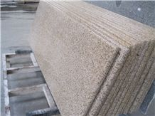 Polished G682, G350, Rusty Yellow, Sunset Gold, China Natural Stone Granite Countertop Bull Nose Round Long Edge Available for Construction Project