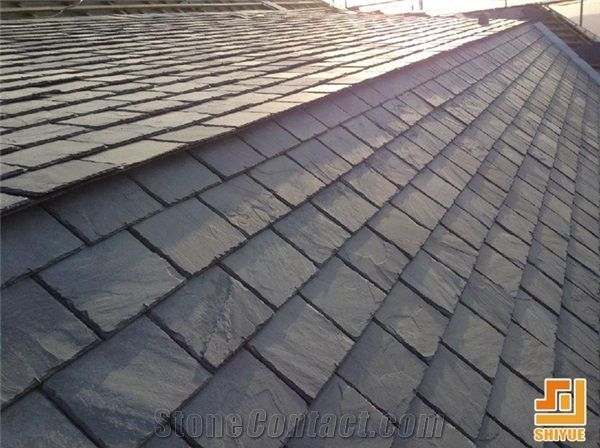 Roofing Tile Cheap Black Roofing Slate Tile Fish Scale