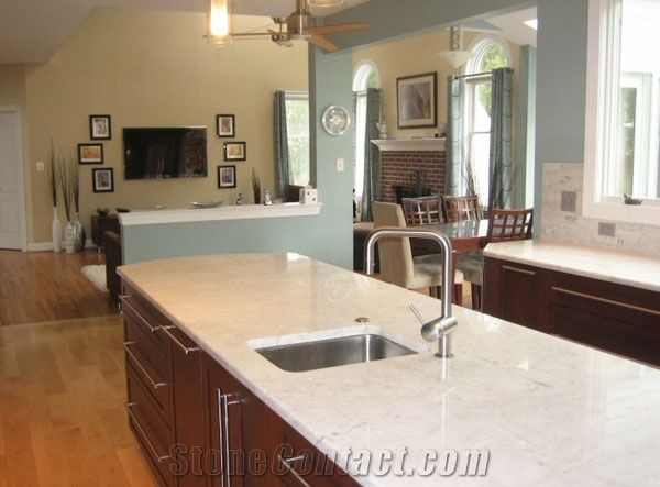 20mm Artificial Quartz Stone Slab For Kitchen Cabinet Countertop