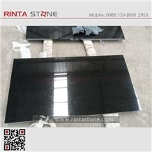 Absolute Black Granite Slab Tile Thin Tiles for Countertop Shanxi Black Stone China Black Granite Pure Black Diamond Black Beiyue Black Stone Hebei Black Shanxi Black with Gold