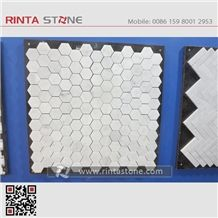 Natural Stone Marble Mosaic Bathroom Wall Cladding Format Panel Decorative Chipped Pattern Composited Honeycomb Mosaic