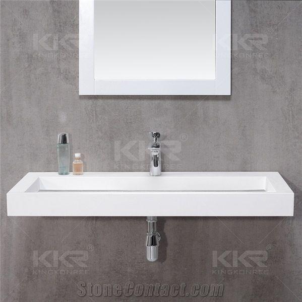 Bathroom Furniture High Quality Solid Surface Sink Wah Basins Pedestal