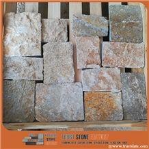 Gold Fantasy Flagstone Wall Cladding, Veneer Stone, Wall Covering Flagstone, Flagstone Rock, Flagstone Wall, Flagstone Patio,Flagstone Patio, Flagstone Road Paving