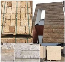 Yellow Travertine Wall Cladding,Wall Tiles,Building Stone