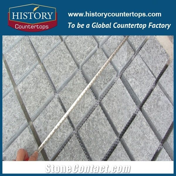 Chinese Supplier Hot S Color Outdoor Garden Courtyard Road Durable Dark Grey Granite Mesh Tile Paving Stone Flamed