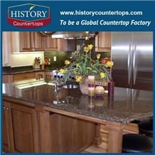 Desert Brown Granite Countertops Customized