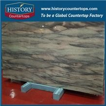 Elegant Brown Granite Slabs for Flooring Tiles, Wall Cladding, Kitchen Countertops & Bathroom Vanity Top, Polished, Sawn Cut, Sanded Surface for Interior or Exterior Construction Luxury Stone
