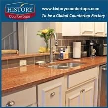 G562 Granite Polish Red Stone Kitchen Countertops