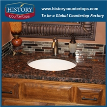 Granite Tan Brown Bath Tops Prefab Vanity Top