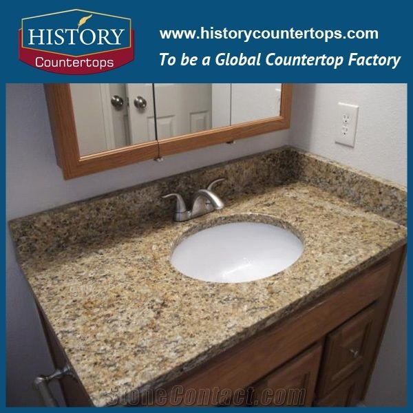 New Trends Caladonia Granite Vanity Tops with Single or Double Sinks ...