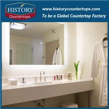 Pure White Quartz Countertops Bath Top for Sale