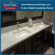 Venata White Marble Bathroom Countetrop Custom