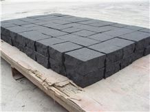 Black Basalt Cube Stone / China Basalt, Waterjet Finished,Floor Covering,Landscape Drainage,Garden Stepping Pavements,Paving Sets