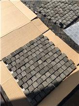 Black Brick Andesite Stone Mosaic, Brick Basalt Mosaic for Wall